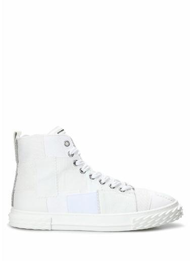 Giuseppe Zanotti Giuseppe Zanotti  Dama Desenli Erkek Deri Sneaker 101625061 Beyaz